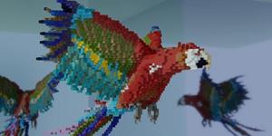 我的世界大神建筑作品欣赏 巨大化鹦鹉降临MC
