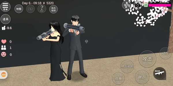 樱花校园模拟器黑色系列结婚照