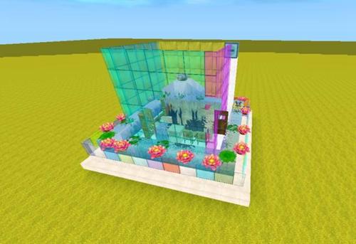 迷你世界喷泉别墅怎么做