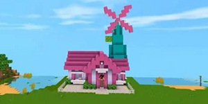 迷你世界风车别墅制作教程 一款充满少女心的风车别墅