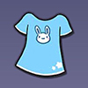 加查生活蓝色T恤