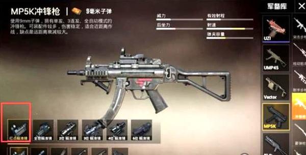 和平精英冲锋枪