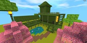 教你做一个竹板小屋 迷你世界建筑教程