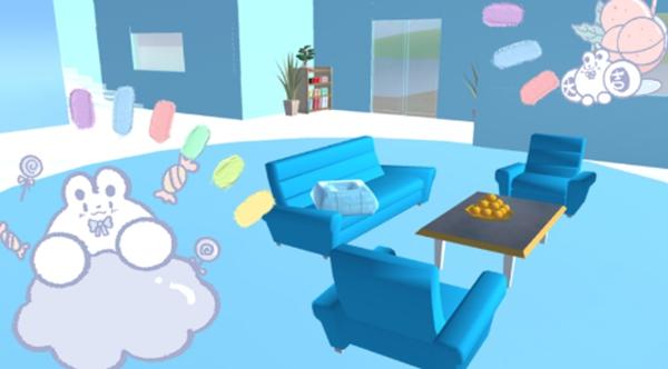 樱花校园模拟器蓝色冬日别墅