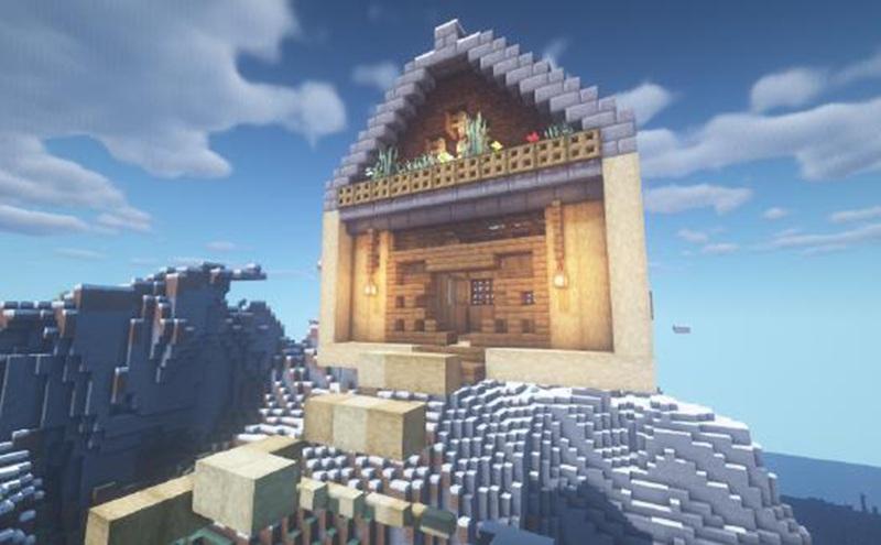 我的世界空中木屋制作方法 住在空中的感觉针不戳