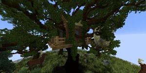 这种树你见过吗?我的世界设计感绝佳的树屋介绍