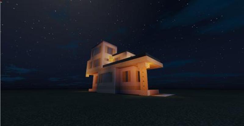 我的世界简约小别墅怎么做 双层简约小别墅等你来住