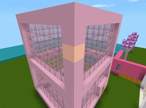 迷你世界粉红色的洋房